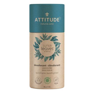 ATTITUDE Super Leaves Plastic-Free Natural Deodorant Unscented