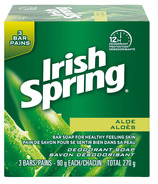 Irish Spring Bar Soap Aloe 3 Pack