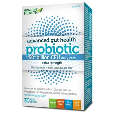 Genuine Health Advanced Gut Health Probiotic 50 Billion CFUs