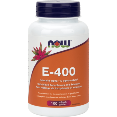 NOW Foods Vitamin E-400 IU with Selenium
