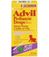 Advil Pediatric Drops For Infants Fever from Colds or Flu Dye Free Grape
