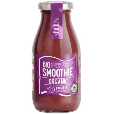 Rudolfs Organic Blueberry Strawberry Smoothie Peaceful