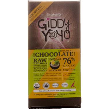 Giddy Yoyo Organic Chocolate Limon Salt