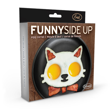 Fred and Friends Funny Side Up Cat Egg Mold