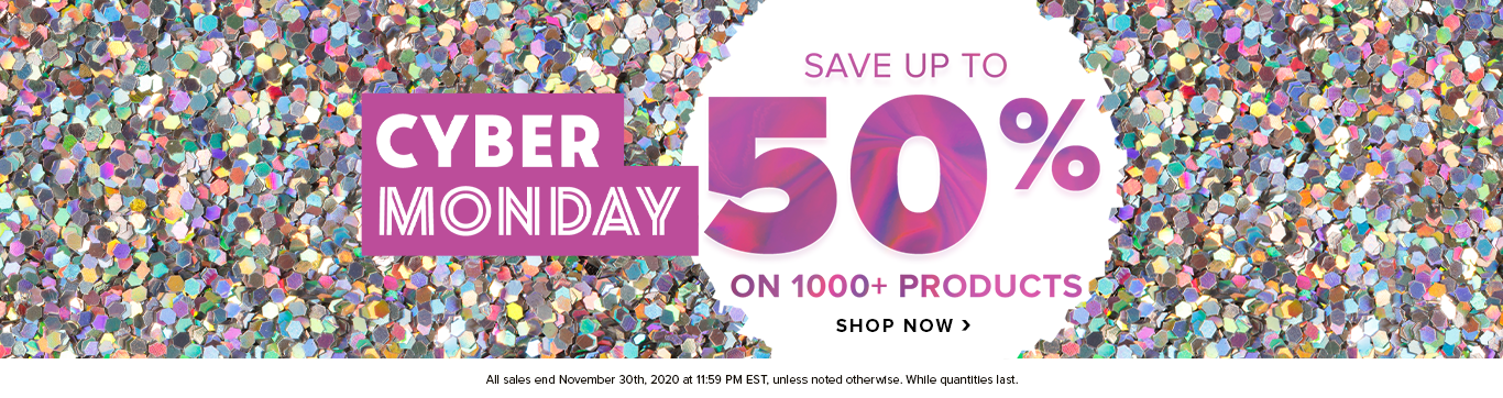Save up to 50% on Cyber Monday