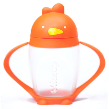 Lollaland Lollacup Straw Sippy Cup Happy Orange