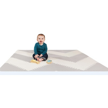 Skip Hop Playspot Interlocking Foam Tiles Grey and Cream
