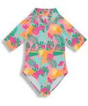 BIRDZ Children & Co. Surfer Swimsuit Pink Jungle