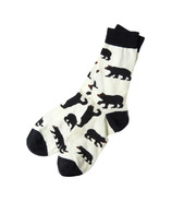 Hatley Men's Crew Socks Black Bears