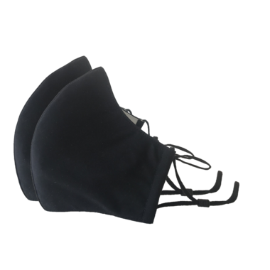 Happy 3-Layer Face Mask Black