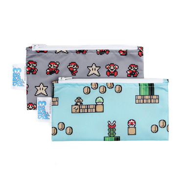 Bumkins Nintendo Small Snack Bag Super Mario 8- Bit