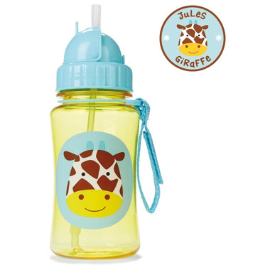 Skip Hop Zoo Straw Bottle Giraffe