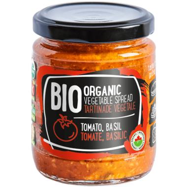 Rudolfs Organic Vegetable Spread Tomato & Basil