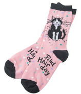 Hatley Little Blue House Bad Hair Day Women's Crew Socks