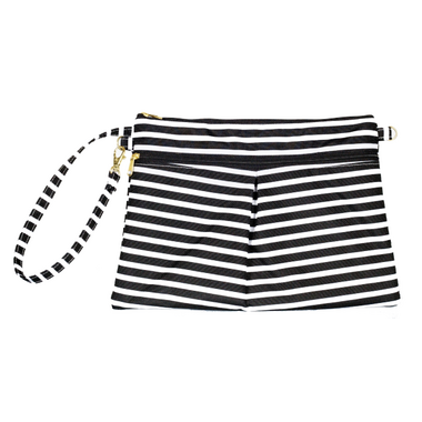Logan and Lenora Waterproof Wristlet Clutch Audrey Stripe