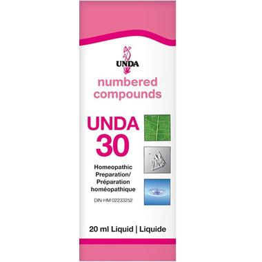 UNDA Numbered Compounds UNDA 30 Homeopathic Preparation