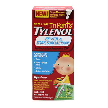 Tylenol Infants\' Fever & Sore Throat Pain Suspension Drops