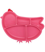 Innobaby Silicone Suction Chicken Plate Pink