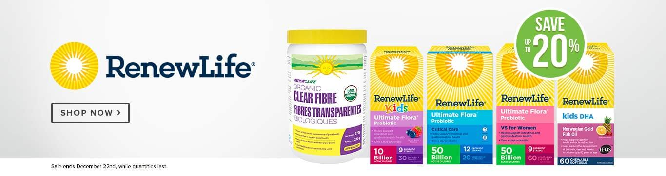 Save up to 20% on Renew Life