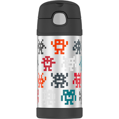 Thermos FUNtainer Insulated Bottle Pixel Gaming Monsters
