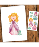 PiCO Temporary Tattoos Princess Card & Tattoos