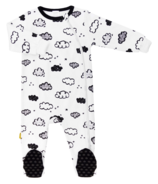 Kushies Side Zip Sleeper Neutral White Print