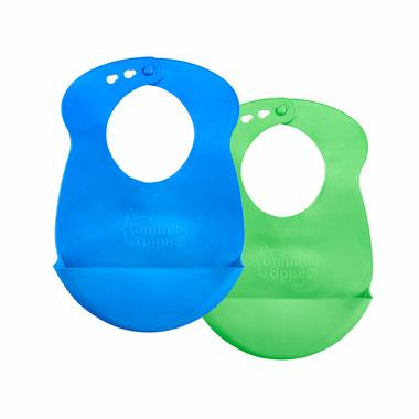 "Tommee Tippee Roll \""N\"" Go Bib Blue & Green"
