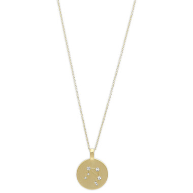 Pilgrim Libra Zodiac Sign Necklace Gold Plated Crystal