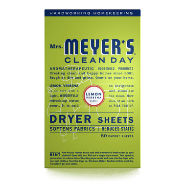 Mrs. Meyer\'s Clean Day Dryer Sheets Lemon Verbena