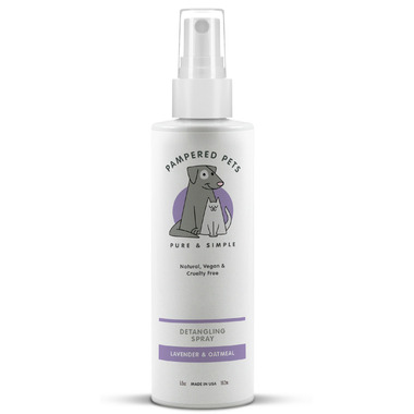 Pampered Pets Pet Detangling Spray Lavender Oatmeal