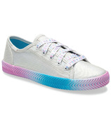 Keds Big Kids Kickstart Herringbone Silver Messaging
