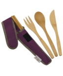 To-Go Ware RePEaT Utensil Set Mulberry Dark Purple