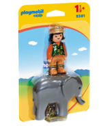 Playmobil 1.2.3 Zookeeper with Elephant