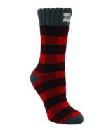 Pudus Women's Short Boot Socks Lumberjack Red