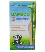 NatureZway Bamboo Disposable Knives