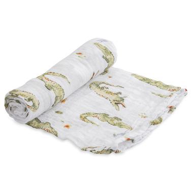 Little Unicorn Cotton Muslin Swaddle Blanket Gators