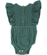 L'oved Baby Organic Muslin Ruffle Bodysuit Oasis
