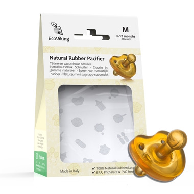 EcoViking Natural Rubber Pacifier Round Medium