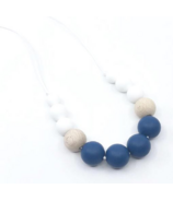 Little Cheeks Duo Necklace Sapphire