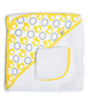 JJ Cole Hooded Towel & Washcloth Yellow Duck