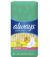 Always Ultra Thin Active with Wings Scented