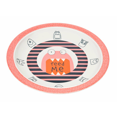 Lassig Little Monsters Plate Mad Mabel