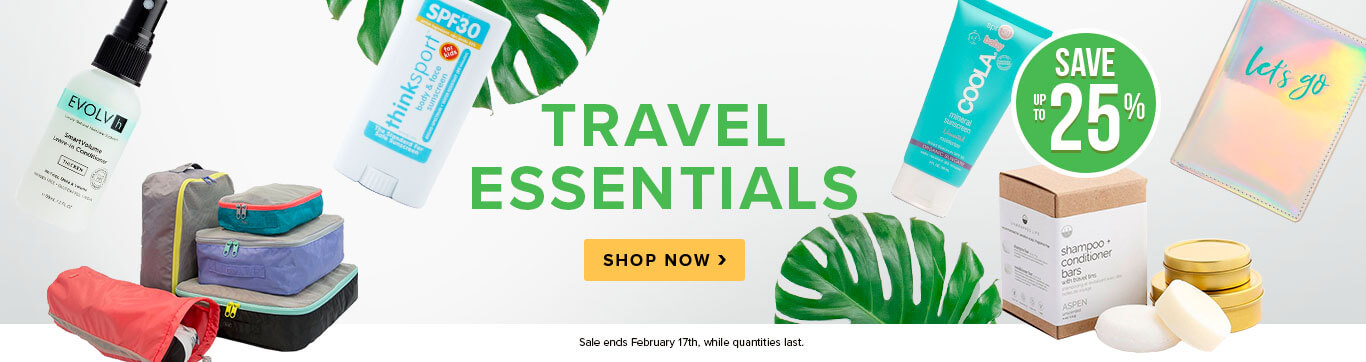 Save up to 25% on Travel Essentials