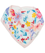 Loulou Lollipop Muslin Bandana Bib Set Light Field Flowers