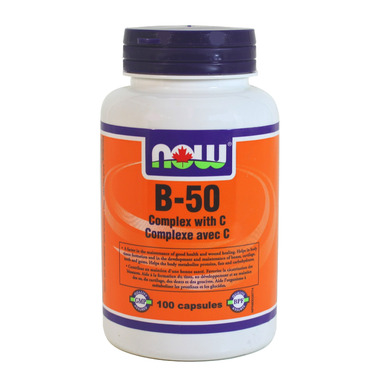 NOW Foods Vitamin B-50 Complex with C