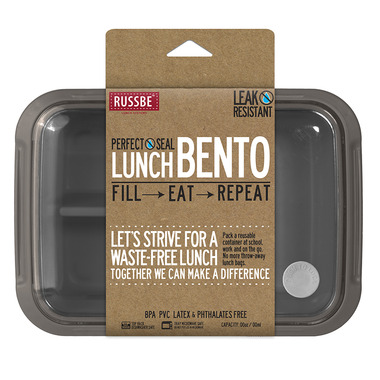 Russbe Perfect Seal Bento Charcoal Gray/Taupe