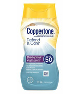 Coppertone Defend & Care Sunscreen Lotion Nourishing Antioxident SPF 50