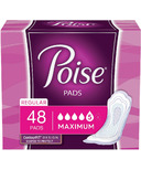 Poise Incontinence Pads Maximum Absorbency Regular