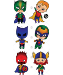 PiCO Temporary Tattoos The Little Super-Heroes