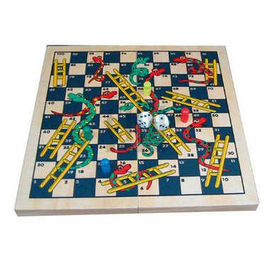 Snakes & Ladders Folding Board Game Set